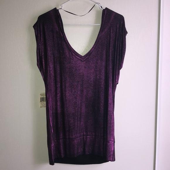 32f33263c3c6 Guess Tops | Shimmer Purple Top | Poshmark
